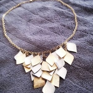 Gold & silver tone charm necklace